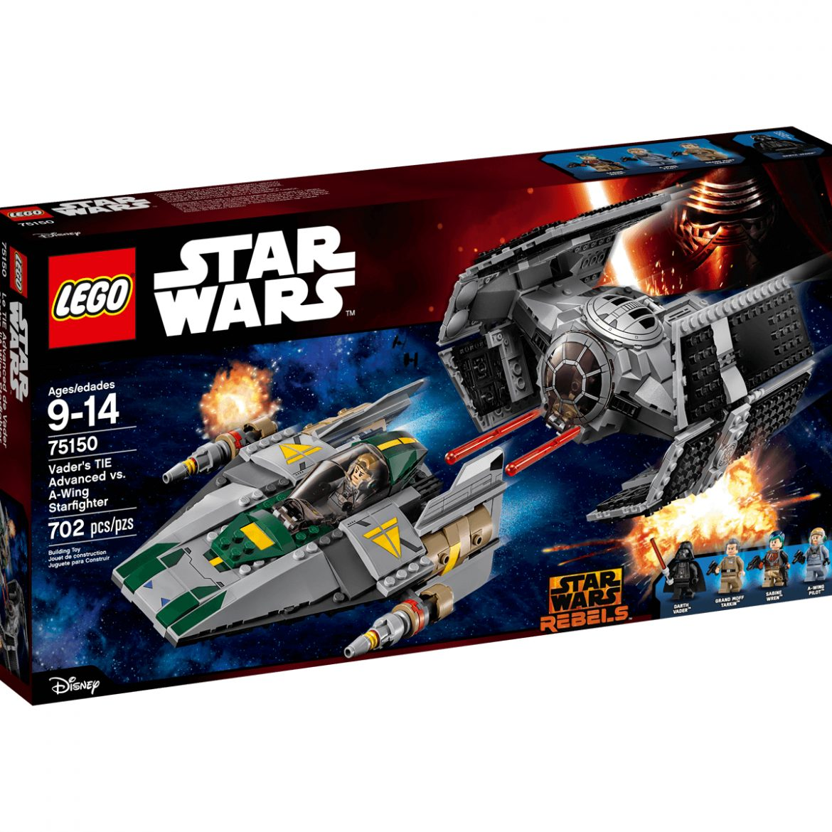 Lego Vader's TIE Advanced mod A-wing Starfighter