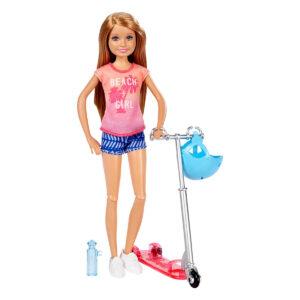 Barbie Stacie med løbehjul og tilbehør