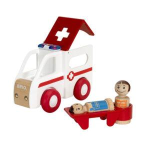 Brio ambulance med lys og lyd