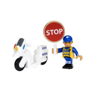 Brio politimotorcykel og fører