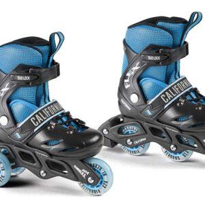 flexsibel rulleskøjte kan laves om fra in-liner til 3-wheeler.
