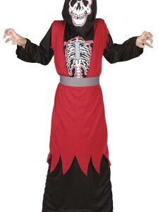 Rio skelet rød kappe