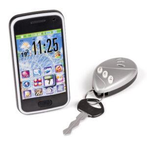 mobiltelefon og bilnøglesæt
