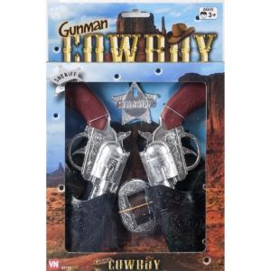 Gunman cowboy pistolsæt