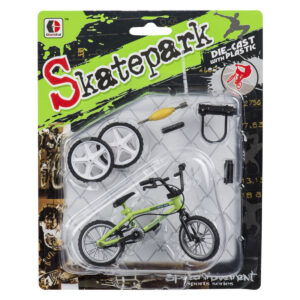Finger-BMX-cykel med tilbehør