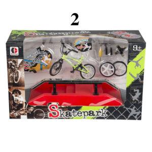 Rampe med finger-BMX-cykel