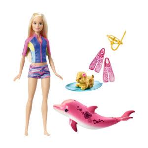 Barbie med delfin og udstyr