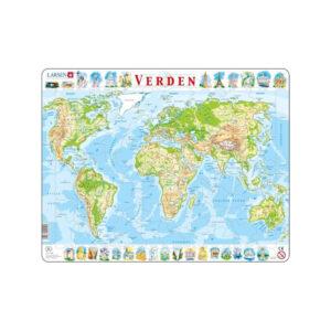 Puslespil verdenskort