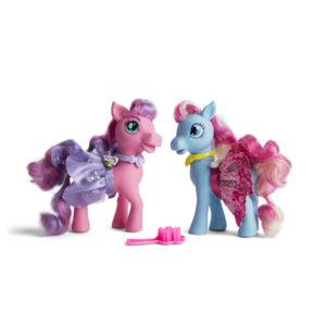 Princess Pony sæt med 2 mellemstore ponyer