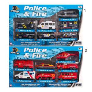 Speedcar Politi- eller brandsæt