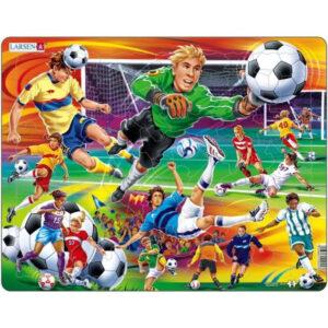 puslespil med fodboldmotiv