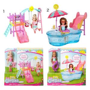 Barbie Chelsea gyngestativ eller poolsæt