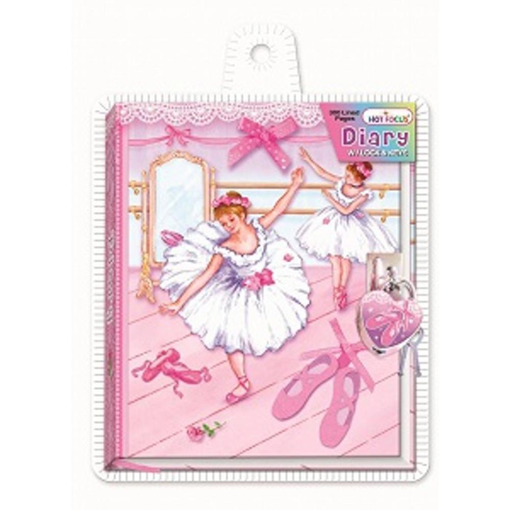 16414 Dagbog m lås Ballerina