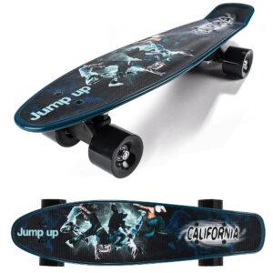 24301 California Hipp Skateboard med print