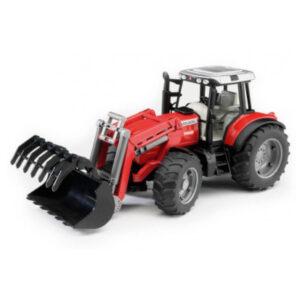 bruder-massey-ferguson-traktor-med-frontlaesser